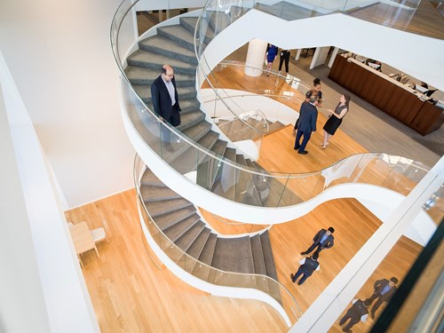 Goodwin office staircase birds eye